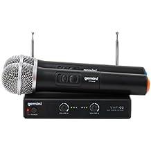 VHF-02M (S48) Microfono Wireless VHF a Doppia Frequenza Per Presentatori, Animatori, Karaoke, Ecc.