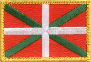 Yantec-Patch-cusson-Drapeau-Pays-Basque-4-x-6-cm