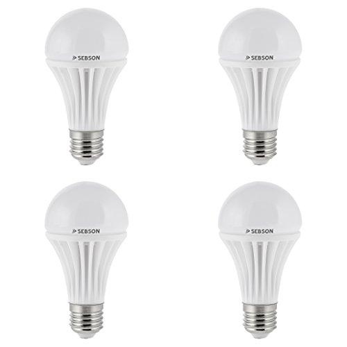SEBSON® E27 LED Lampe 12W, ersetzt 80W Glühlampe, 1150 Lumen, E27 LED warmweiß, LED Leuchtmittel 180°, 4er Pack