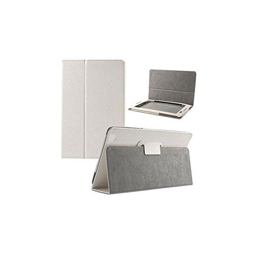 CUSTODIA BOOK ORIZZONTALE PELLE per LENOVO IDEATAB A8-50 A5500, 8' POLLICI CON STAND E CHIUSURA MAGNETICA COLORE BIANCO