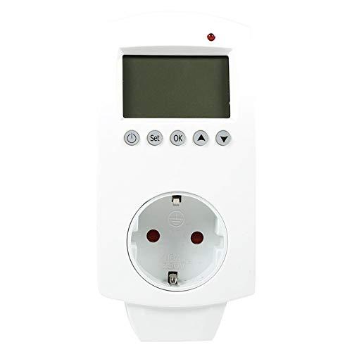 Huairdum Temperaturregler, Standard-Einsteckthermostat Digitaler programmierbarer Temperaturregler mit Ausgang Neu (#1) -