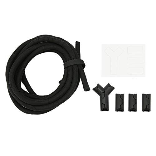 Delicacydex Flexibler Kabel-Organisator 3M / 10FT Hitzebeständiges Kabel Rohrverzögerndes Gehäuse-Design für Wohn- oder Arbeitsraum - Schwarz