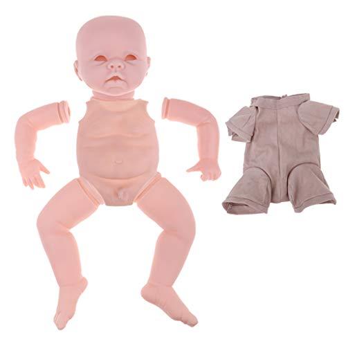 F Fityle 22 Pulgadas Partes de Cuerpo de Muñecas Bebé Renacida + Kit de Cuerpo de Paño