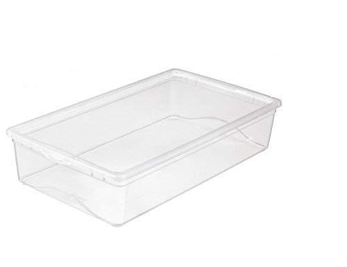Sunware 3 x Omega Clearbox mit Deckel - 19 Liter - 590 x 330 x 125 mm - transparent