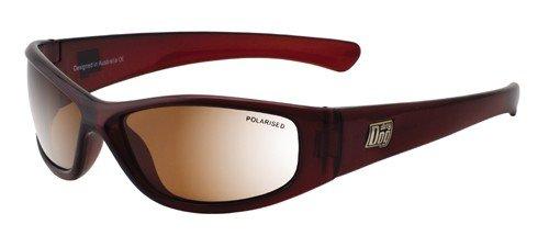 Dirty Dog 52789 Rouge Foncé Buzzer Wrap Sunglasses Polarised