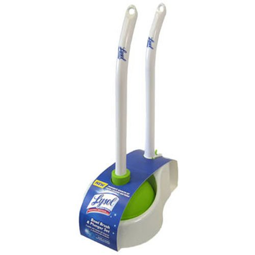 Preisvergleich Produktbild Lysol Bowl Brush with Plunger and Caddy, 20 1/4'', White/Green, Sold as 1 Each