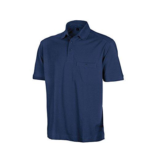 Result Herren Work-Guard Apex Kurzarm Polo Shirt Marineblau