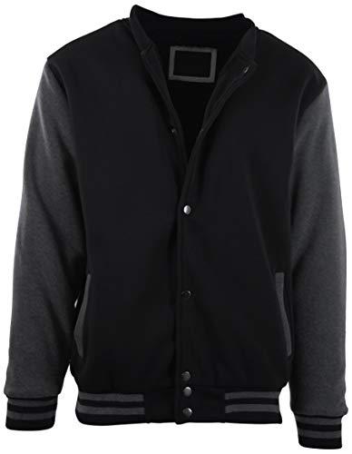 Melton Wool Letterman Jacket (ChoiceApparel Herren Baseballjacke mit abnehmbarem Hoodie - - X-Groß)