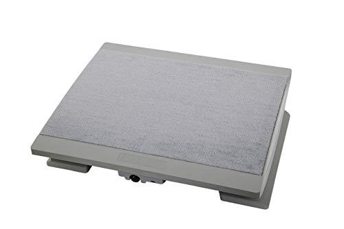 Maul Ergonomische Fußstütze, Beheizbar, Höhenverstellbar, Teppichbelag, Große Stellfläche 45x39 cm, Grau, 9025085 -