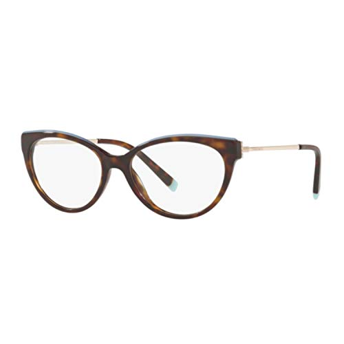 Tiffany & Co. Sonnenbrille Vista Damen 2183 8015 Havana Katze Metall Cat Eye Terminal Türkis/52