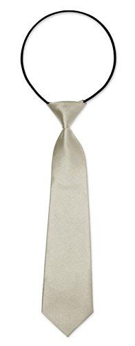 Kinderkrawatte Krawatte Kinder Jungen Gummiband gebunden dehnbar Konfirmation Taufe antikweiß