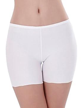 Mengonee mujeres de seda del hielo ropa interior sin costuras elástico Safty pantalones cortos de exposición Anti