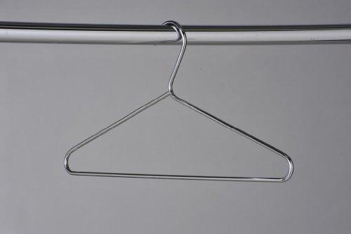 KRH50 Heavy Duty Chrome Coat Hangers (Pack of 50)