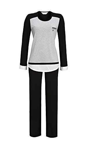 Cherie Line Damen Pyjama 6471212 Grau-Melange