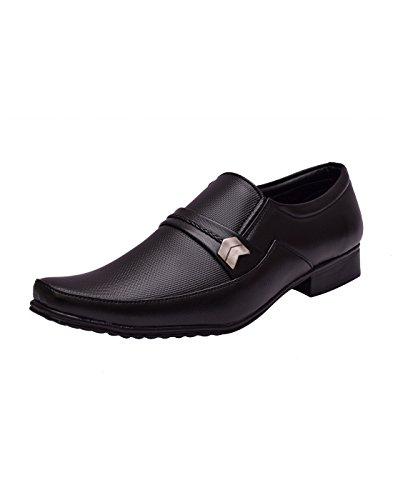 Sir Corbett Men's Black Synthetic Leather Elegant Slip On Formals (9)