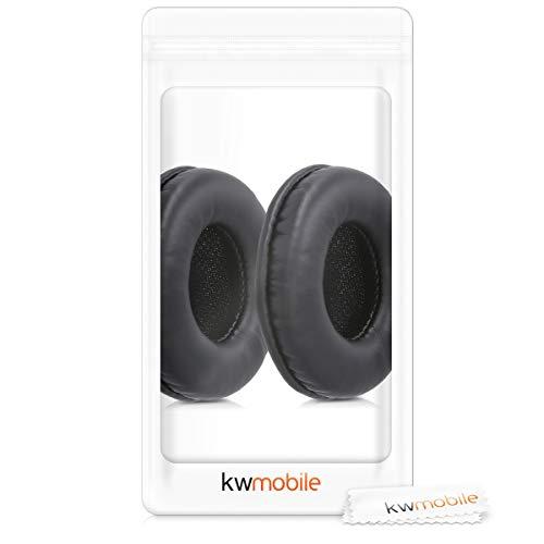 kwmobile 2X Ohrpolster für Sony MDR-V150 / V250 / V300 Kopfhörer - Kunstleder Ersatz Ohr Polster für Sony Overear Headphones - 6
