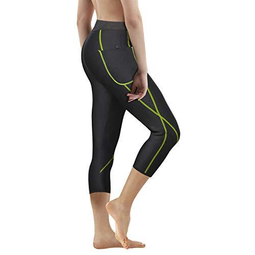 6d6a60b25 Gotoly Women Neoprene Sauna Pants Weight Loss Slim Training High Waist  Tight Legging Pocket Running Capris