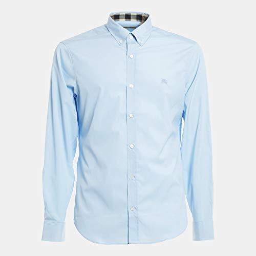Camicia burberry brit mens slim fit, in diversi colori, dimensione:s, colore:azzurro