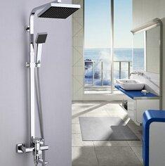 TougMoo bonne rotation de la qualité de remplissage de baignoire Mitigeur de bain Douche mural, 8 douche de pluie Abs\