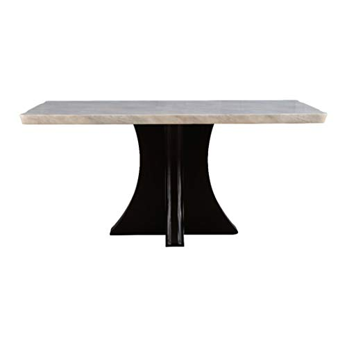 HomeTown Alston Marble Top Six Seater Dining Table