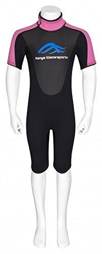 Shorty 3 mm Neopren Anzug für Kinder - Mädchen, Größe:XL