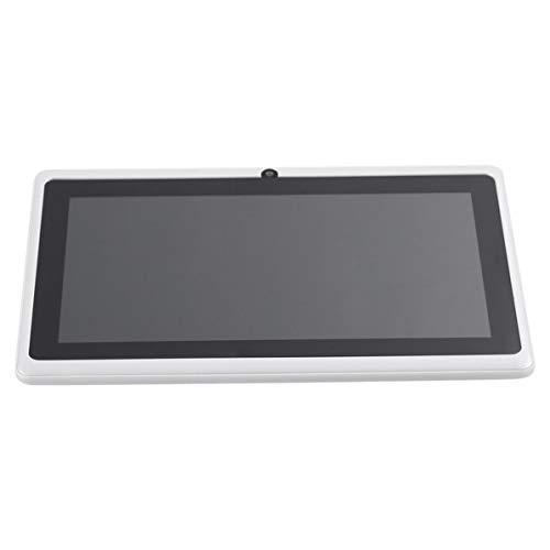 WEIWEITOE 7 Zoll TFT Display HD 1080 P Quad Core Dual Kamera Tablet WiFi 512 Mt + 8G Filme Spiele Tablet für Android, weiß, (Tablet P 1080)