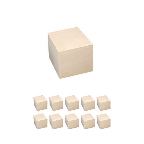 Bloques cuadrados de madera Cubos de madera