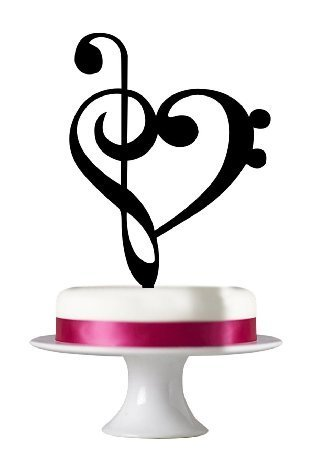 Music Note Acrylic Cake Toppers for Wedding Party Cake Decorations