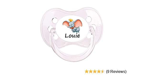 SIZES /& COLOURS ALL TEATS BLUE CROWN 2 PERSONALISED DUMMY PACIFIER SOOTHER
