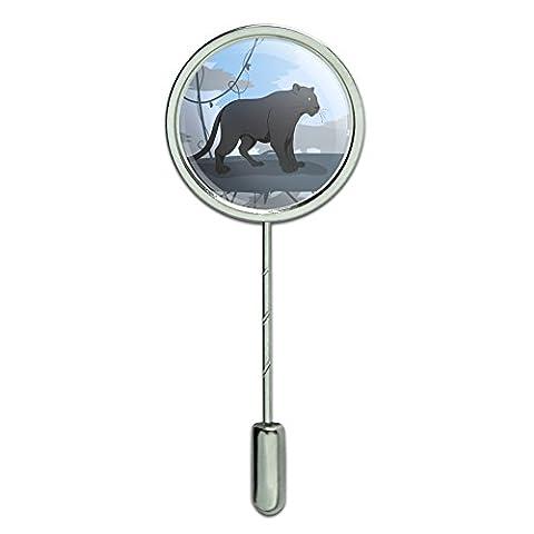 Black Panther Leopard Jaguar Forest Stick Pin Stickpin Hat Brooch