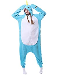 SHANGXIAN Kigurumi Adulto Pijama Cosplay Narval Disfraz Unisexo Navidad Halloween Fiesta Animal Ropa De Dormir,
