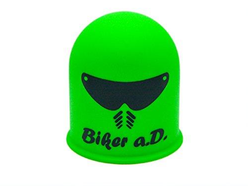 Schutzkappe Anhängerkupplung Biker a.D. Helm Visier Motorrad Mofa Biker grün