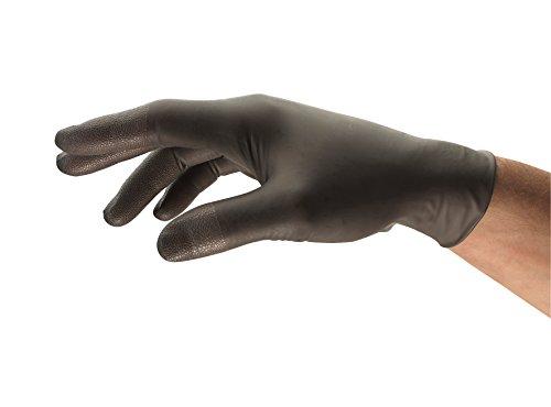 Ansell TouchNTuff 93-250 Nitril Handschuhe, Chemikalien- und Flüssigkeitsschutz, Anthrazit, Größe 8.5-9 (100 Handschuhe pro Spender)