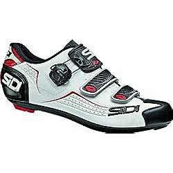 SIDI - Zapatillas de Ciclismo de Material Sintético para Hombre Blanco Bianco Nero Rosso Blanco Size: 45