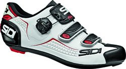 SIDI Mens Synthetic Material Cycling Shoes White BIANCO NERO ROSSO White Size: 41