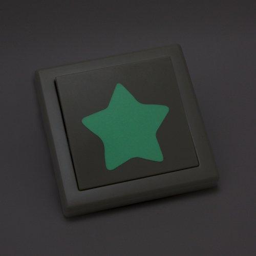 Wandkings Leuchtaufkleber für Lichtschalter / 8 Sterne / im Dunkeln leuchtend