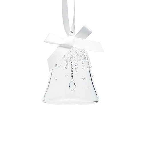 Swarovski di natale campana, piccola figura, cristallo, trasparente, 5.6x 5.6x 6.3cm