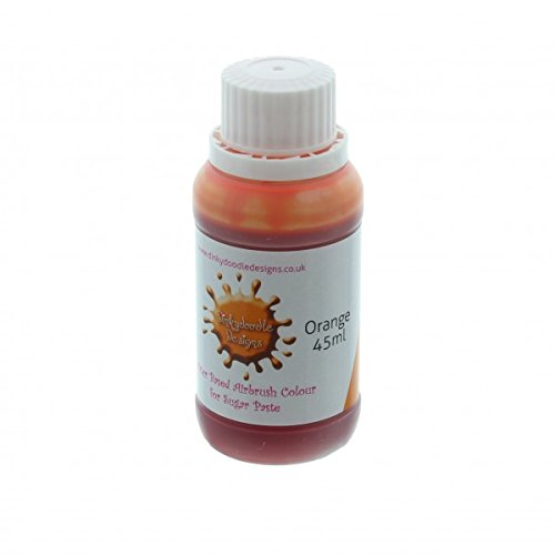 orange-water-based-airbrush-colour-for-sugar-paste-45ml-by-dinkydoodle