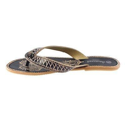 Savannah INFRADITO-sandalo ETHNO F0374 black Nero (nero)