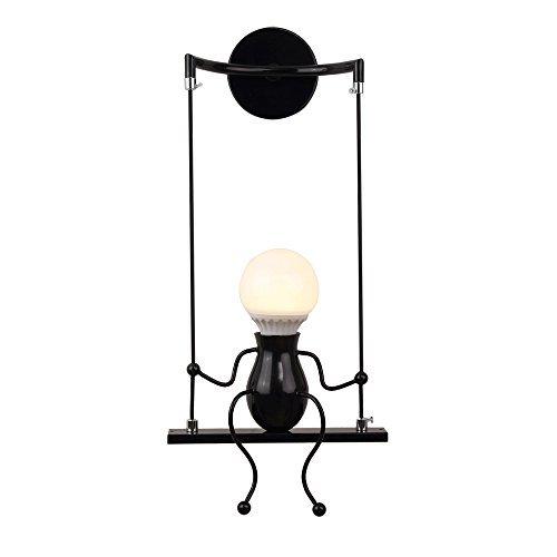 Create for Life Lampada da parete E27 Applique da parete interni,Lampada da parete dell'annata LED per barra, stanza dei bambini