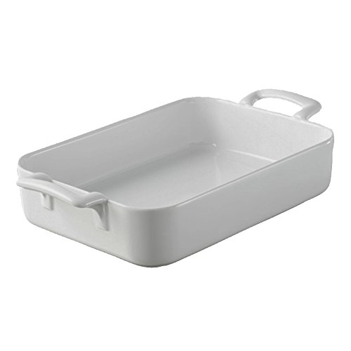 Revol 5571 Plat à Four Rectangulaire Porcelaine Blanc 34 x 25 x 6,5 cm