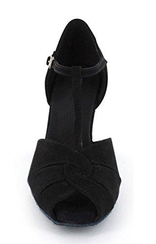 TDA - Ballroom donna Black Suede