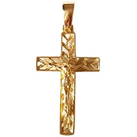GIOIELLERIA CENTRO ORO - Ciondolo Croce - Crocifisso in oro Giallo 18 kt - 750 3,0cm x 1,6cm Gr. 2,20 - 18k Crocifisso