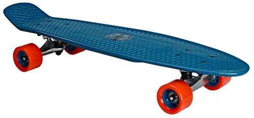 Nijdam Skateboard Kunststoff Flipgrip Board Plastik, Blau/Rot, One Size/28 Zoll