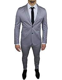 7d61f7ddcbe Vêtements Homme Sartoriale Gris Clair Ensemble Robe Slim Fit Made in Italy  Coton Élégant ...