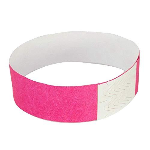 Popluxy Tyvek Wristbands 100 pack, Paper like Bracelets used for events, nightclubs, waterparks etc.