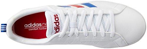 adidas Herren VS Advantage Turnschuhe, Blau Blanco / Azul / Rojo (Ftwbla / Azul / Rojpot)