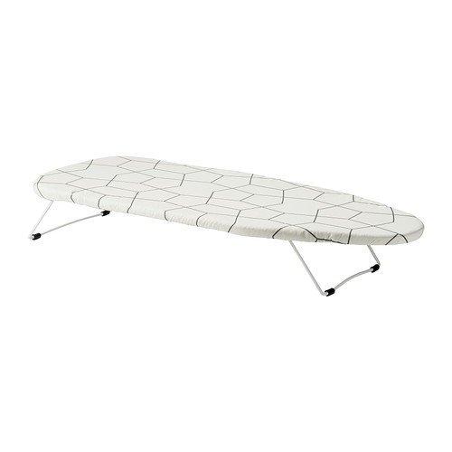 Ikea Tabla de Planchar Mesa, Poliéster, Blanco, 74x32x3 cm