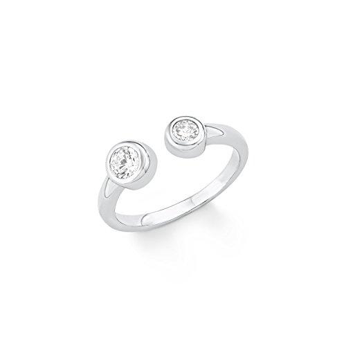 s.Oliver Damen-Ring 5 mm 925 Silber rhodiniert Zirkonia weiß Gr. 56 (17.8) - 566858