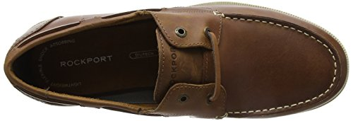 Rockport Summer Sea 2-Eye Boat Shoe, Chaussures Bateau Homme Brown (caramel)